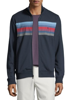 Original Penguin Men's Applied-Chest Stripe Zip-Front Jacket