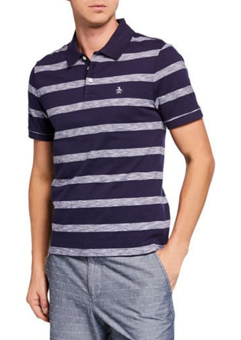 Original Penguin Men's Auto Slub Stripe Polo Shirt
