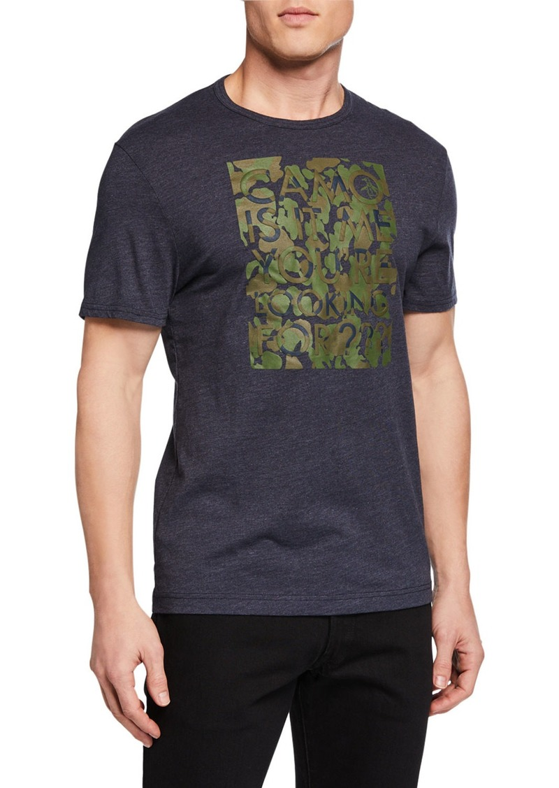 Original Penguin Men's Camo Vinyl Graphic Tee