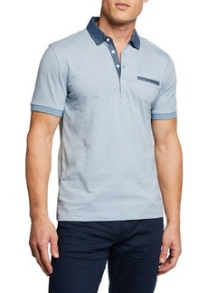Original Penguin Men's Chambray Cotton Polo Shirt