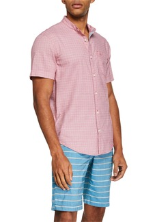 Original Penguin Men's Crosshatch Short-Sleeve Shirt