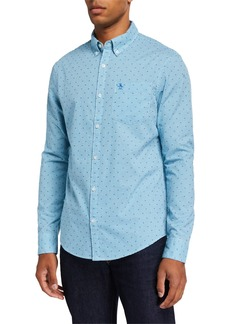 Original Penguin Men's Dobby Mini Gingham Sport Shirt