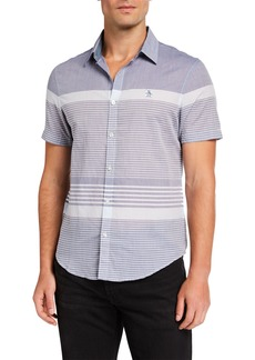 Original Penguin Men's Engineered Bold Stripe Sport Shirt