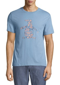 Original Penguin Men's Floral-Logo Graphic T-Shirt