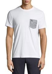 Original Penguin Men's Floral Printed-Pocket T-Shirt