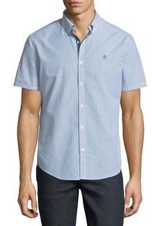 Original Penguin Men's Geometric-Dobby Short-Sleeve Sport Shirt