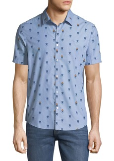 Original Penguin Men's Grillin Chambray Short-Sleeve Sport Shirt