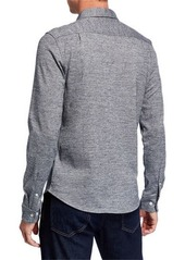 Original Penguin Men's Jaspe-Knit Sport Shirt