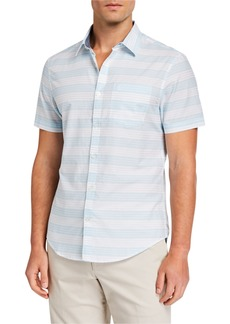 Original Penguin Men's Lawn Horizontal Stripe Sport Shirt