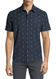 Original Penguin Men's Lightning Bolt Short-Sleeve Sport Shirt