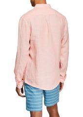 Original Penguin Men's Linen Long-Sleeve Sport Shirt