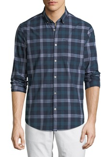 Original Penguin Men's Long-Sleeve Button-Front Dobby Plaid Shirt