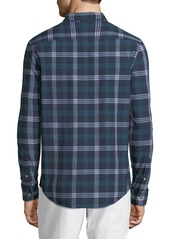 Original Penguin Men's Long-Sleeve Button-Front Dobby Plaid Shirt