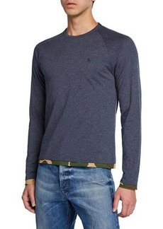 Original Penguin Men's Long-Sleeve Reversible Tee