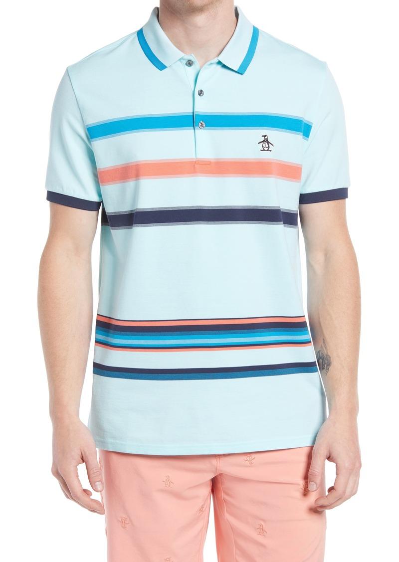 Men's Original Penguin 19Th Hole Stripe Golf Polo