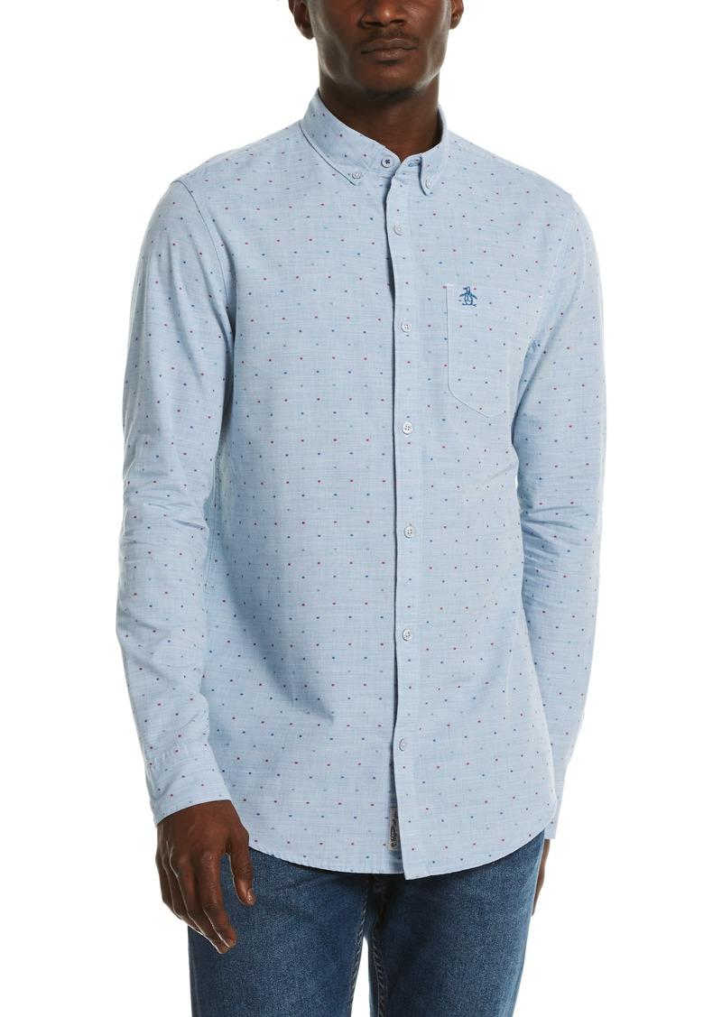 Men's Original Penguin Dobby Cotton Button-Down Shirt