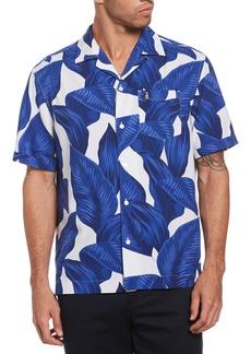 Men's Original Penguin Leaf Print Camp Shirt
