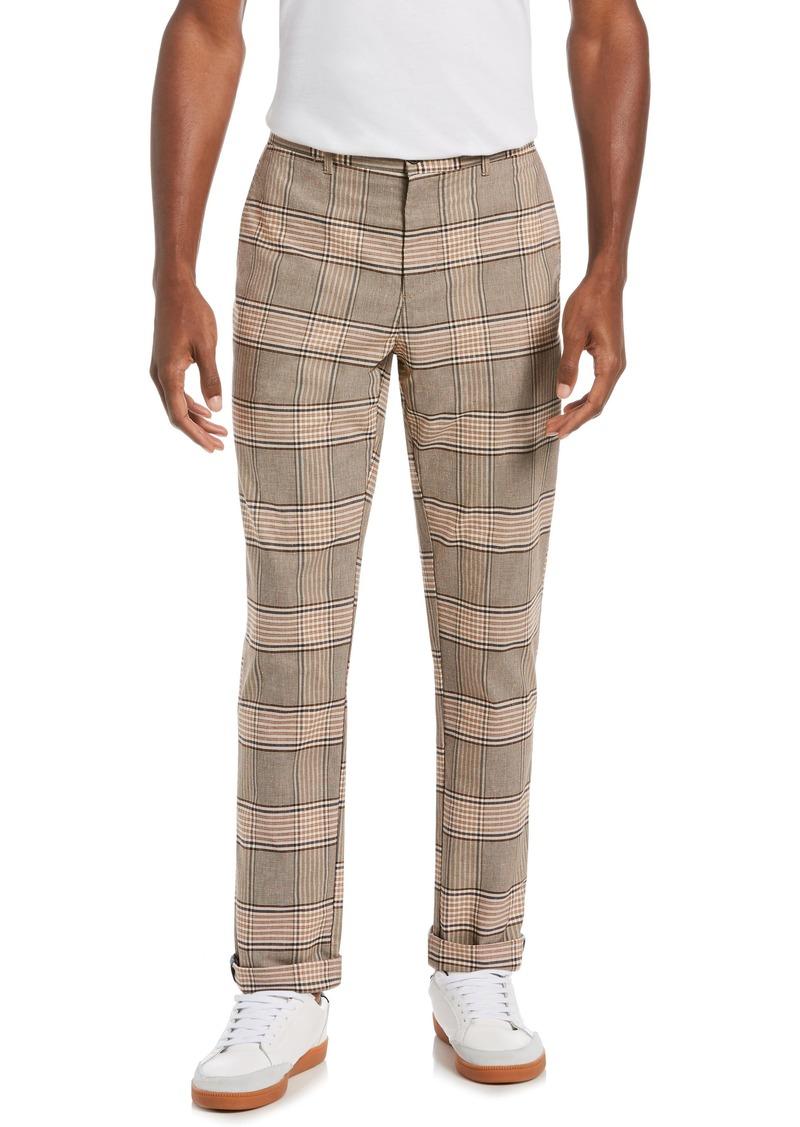 Men's Original Penguin Plaid Flat Front Pants