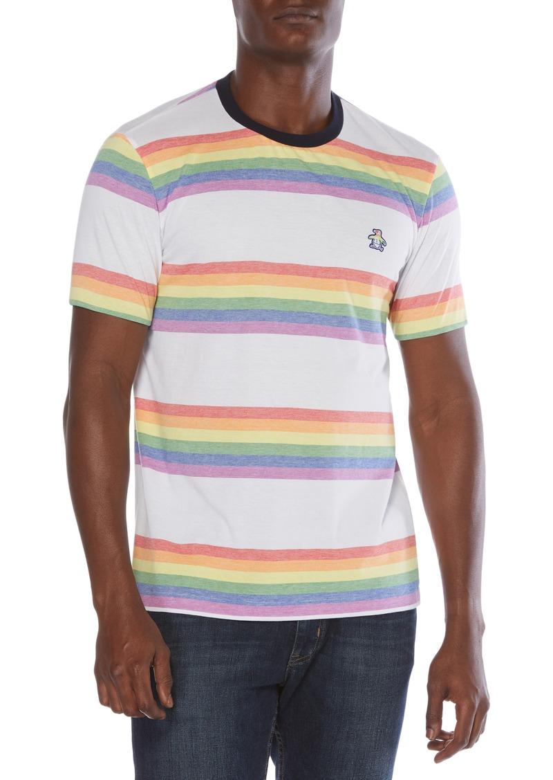 Men's Original Penguin Pride Rainbow Stripe T-Shirt