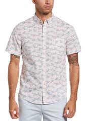 Men's Original Penguin Print Short Sleeve Button-Down Shirt