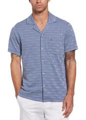 Men's Original Penguin Slim Fit Geometric Knit Short Sleeve Button-Up Shirt