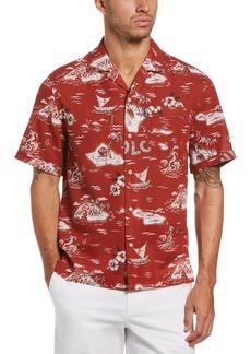 Men's Original Penguin Slim Fit Short Sleeve Button-Up Shirt