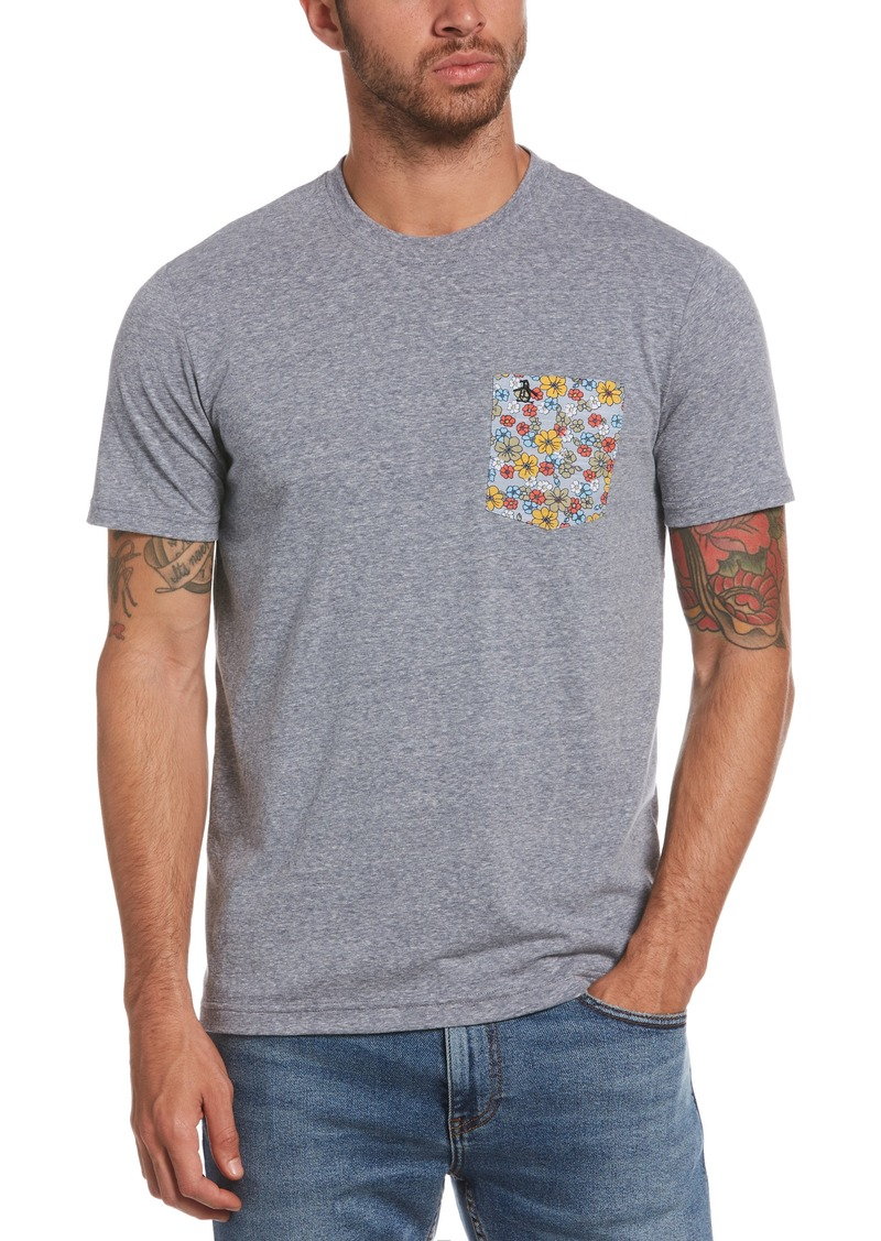 Original Penguin Slub Floral Pocket T-Shirt