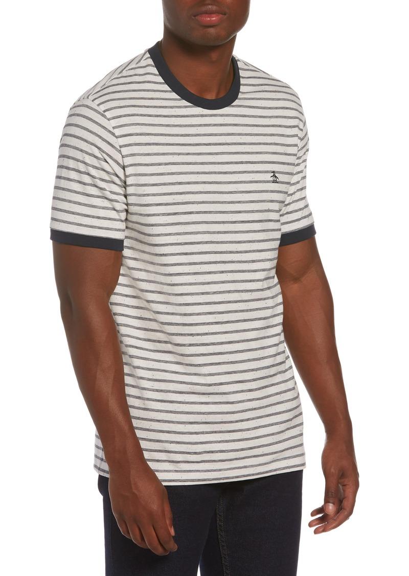 Original Penguin Stripe Neppy Ringer T-Shirt