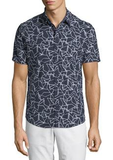 Original Penguin Men's Overlapping-Star Short-Sleeve Sport Shirt