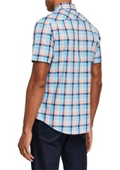 Original Penguin Men's Plaid Short-Sleeve Sport Shirt