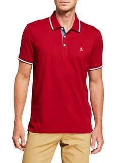 Original Penguin Men's Polo Shirt with Stripe Detail