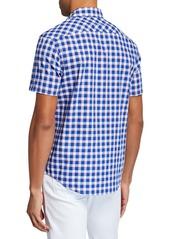 Original Penguin Men's Short-Sleeve Checked Shirt