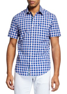 Original Penguin Men's Short-Sleeve Checked Shirt