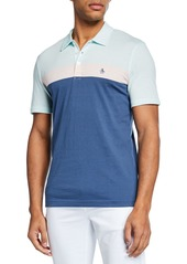 Original Penguin Men's Short-Sleeve Colorblocked Striped Polo Shirt