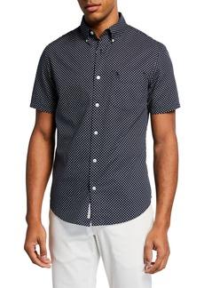 Original Penguin Men's Short-Sleeve Dotted Sport Shirt