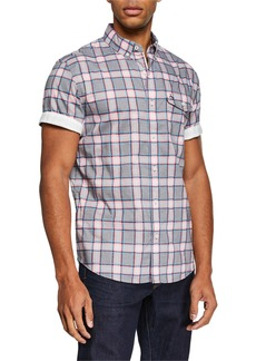 Original Penguin Men's Short-Sleeve Electric Dobby Shirt