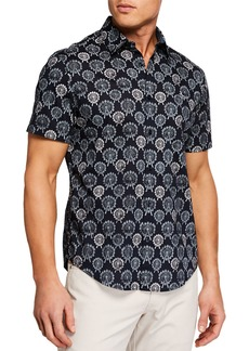 Original Penguin Men's Short-Sleeve Ferris Wheel Print Shirt