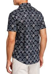 Original Penguin Men's Short-Sleeve Ferris Wheel Print Shirt