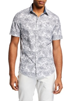 Original Penguin Men's Short-Sleeve Floral-Print Sport Shirt