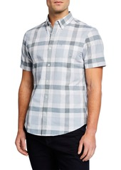Original Penguin Men's Short-Sleeve Jasper Plaid Print Shirt