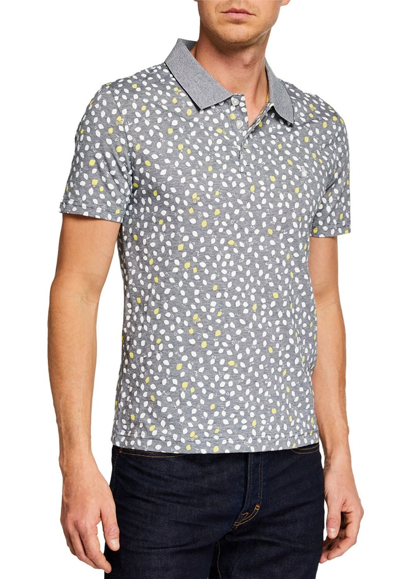 Original Penguin Men's Short-Sleeve Lemon-Print Polo Shirt