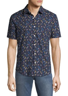 Original Penguin Men's Short-Sleeve Palm Tree Sport Shirt