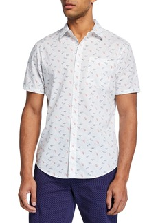 Original Penguin men's Short-Sleeve Sunglass-Print Shirt