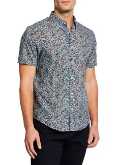 Original Penguin Men's Short-Sleeve Floral Print Shirt