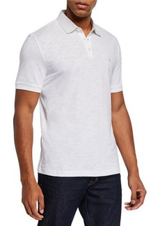 Original Penguin Men's Slub Jersey Polo Shirt w/ Woven Collar