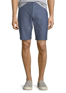 Original Penguin Men's Star-Print Chambray Oxford Shorts