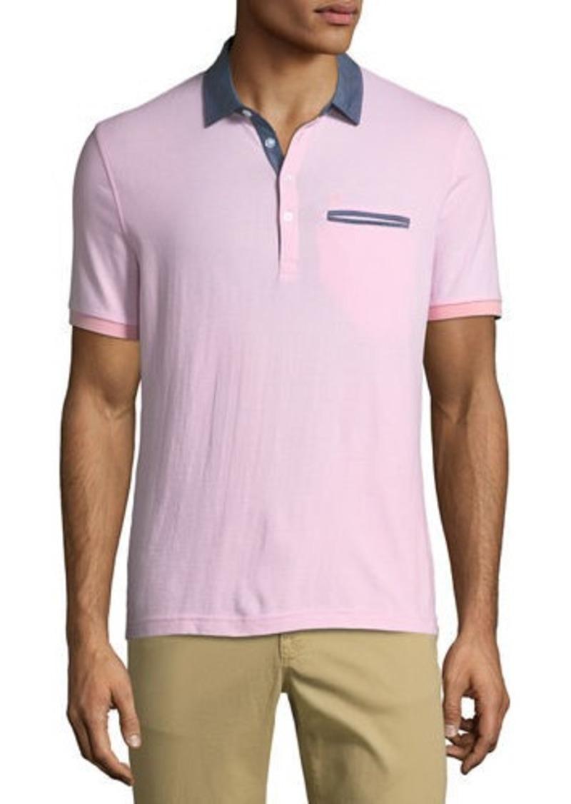 65289d32a Original Penguin Men's Stripe Chambray-Collar Shirt w/ Polo Pocket ...