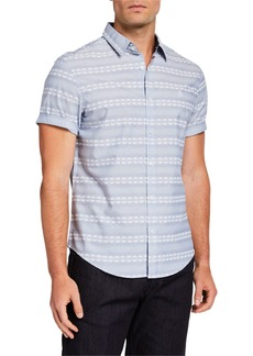 Original Penguin Men's Striped Chambray Sport Shirt