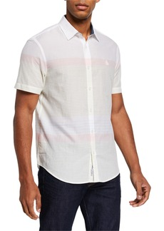 Original Penguin Men's Striped Short-Sleeve Lawn Shirt