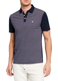 Original Penguin Men's Surf Jacquard Polo Shirt